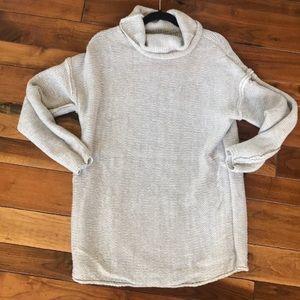Sweaters - Handmade Light Gray/White Oversized Sweater
